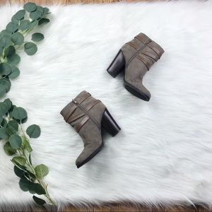 Just Fab | Briana Style Heeled Booties, Size 7.5